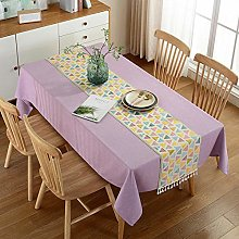 QKEMM Modern Table Cloths Table Covers Cotton