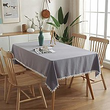 QKEMM Rectangular Tablecloth Stain Proof Cotton