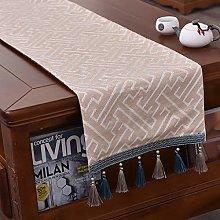 QL Table Runner Linen Look Oblong Table Runner