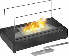 Qlima Ethanol Fireplace 36x19x21 cm FFB 105 - Black