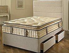 QLizzy Cream Chenille Exclusive Natural Divan Bed