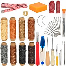 QLOUNI 37PCS Leather Sewing Kit Leather Repair
