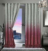 QM-Bedding® BAHIA TWISTED Velvet Curtains Two