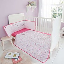QM-Bedding® Cot Bed Bumper Coverlet & Fitted