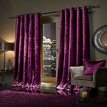 QM-Bedding® Designer CRUSHED Velvet Curtains
