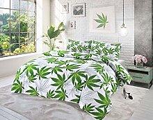 QM-Bedding® Luxuries CANNABIS WEED DUVET SET