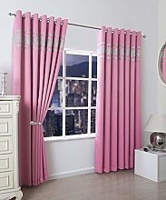 QM-Bedding® Thermal DIAMANTE Curtain Pair Ring