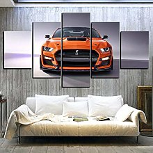 QMCVCDD 5 Panel Wall Art Canvas Ford Mustang