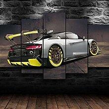 QMCVCDD 5 Panel Wall Art Canvas R8 Gt2 Racing