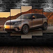 QMCVCDD 5 Panel Wall Art Canvas Range Rover Velar