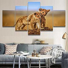 QMCVCDD Canvas For Painting 5 Piece Canvas Wall