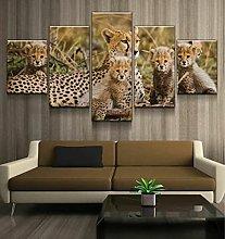 QMCVCDD Canvas Living Room 5 Piece Fresco