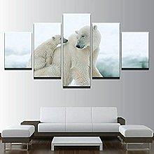 QMCVCDD Canvas Prints 5 Piece Canvas Picture