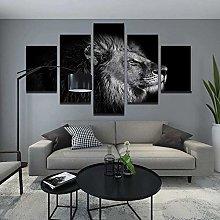 QMCVCDD Canvas Wall Art 5 Pieces Non Woven Canvas