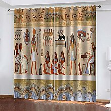 QMGLBG Blackout Curtains 2 Panels Set Ancient