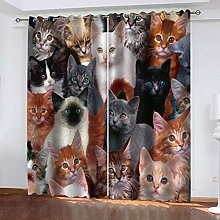 QMGLBG Blackout Curtains 2 Panels Set Cartoon