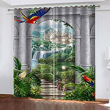 QMGLBG Blackout Curtains 2 Panels Set Garden