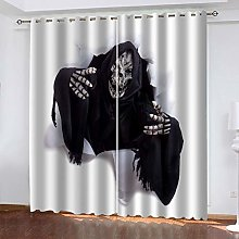 QMGLBG Blackout Curtains 2 Panels Set Grim Reaper