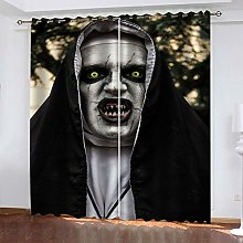 QMGLBG Blackout Curtains 2 Panels Set Halloween