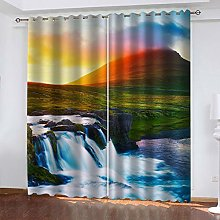QMGLBG Blackout Curtains 2 Panels Set Sunrise