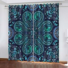 QMGLBG Blackout Curtains 2 Panels Set Vintage