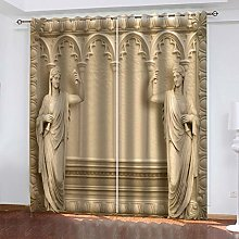 QMGLBG Blackout Curtains 2 Panels Set Virgin Mary