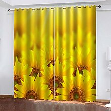 QMGLBG Blackout Curtains 2 Panels Set Yellow
