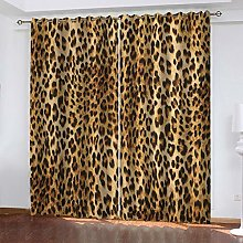 QMGLBG Blackout Curtains Super Soft Animal leopard