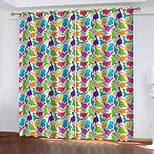 QMGLBG Blackout Curtains Super Soft Cartoon