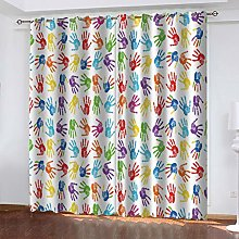 QMGLBG Blackout Curtains Super Soft Colorful