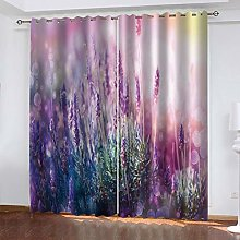 QMGLBG Blackout Curtains Super Soft Dream lavender
