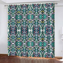 QMGLBG Blackout Curtains Super Soft Retro color