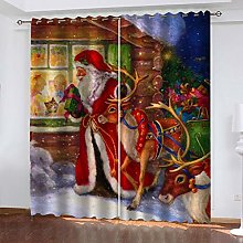 QMGLBG Blackout Curtains Super Soft Santa Elk