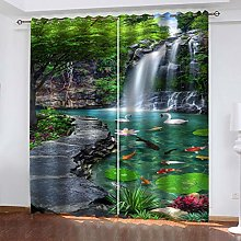QMGLBG Blackout Curtains Super Soft Waterfall