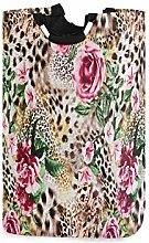 QMIN Laundry Basket Animal Tiger Leopard Print