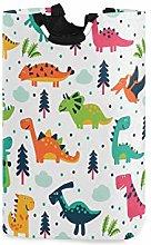 QMIN Laundry Basket Cartoon Dinosaur Animal Tree