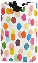 QMIN Laundry Basket Colorful Gemometric Polka Dot