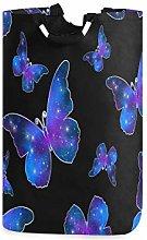 QMIN Laundry Basket Galaxy Butterfly Animal