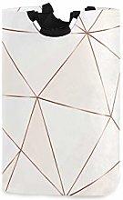 QMIN Laundry Basket Geometric Rose Gold Lines