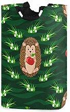 QMIN Laundry Basket Hedgehog Animal Cherry Leaves