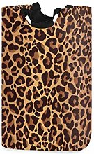 QMIN Laundry Basket Leopard Animal Skin Print