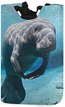QMIN Laundry Basket Ocean Sea Animal Manatee