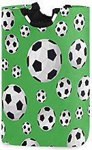 QMIN Laundry Basket Sport Soccer Football Pattern