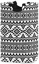QMIN Laundry Basket Tribal Aztec Geometric Pattern