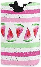 QMIN Laundry Basket Watercolor Fruit Watermelon