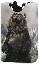 QMIN Laundry Basket Wild Animal Forest Bear