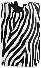 QMIN Laundry Basket Zebra Animal Skin Print