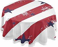 QMIN Table Cloth American Flag Star Pattern 60
