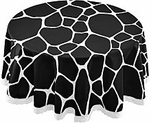QMIN Table Cloth Geometric Animal Giraffe Skin