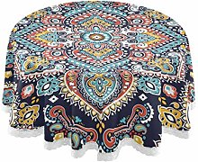 QMIN Table Cloth Indian Floral Paisley Ethnic